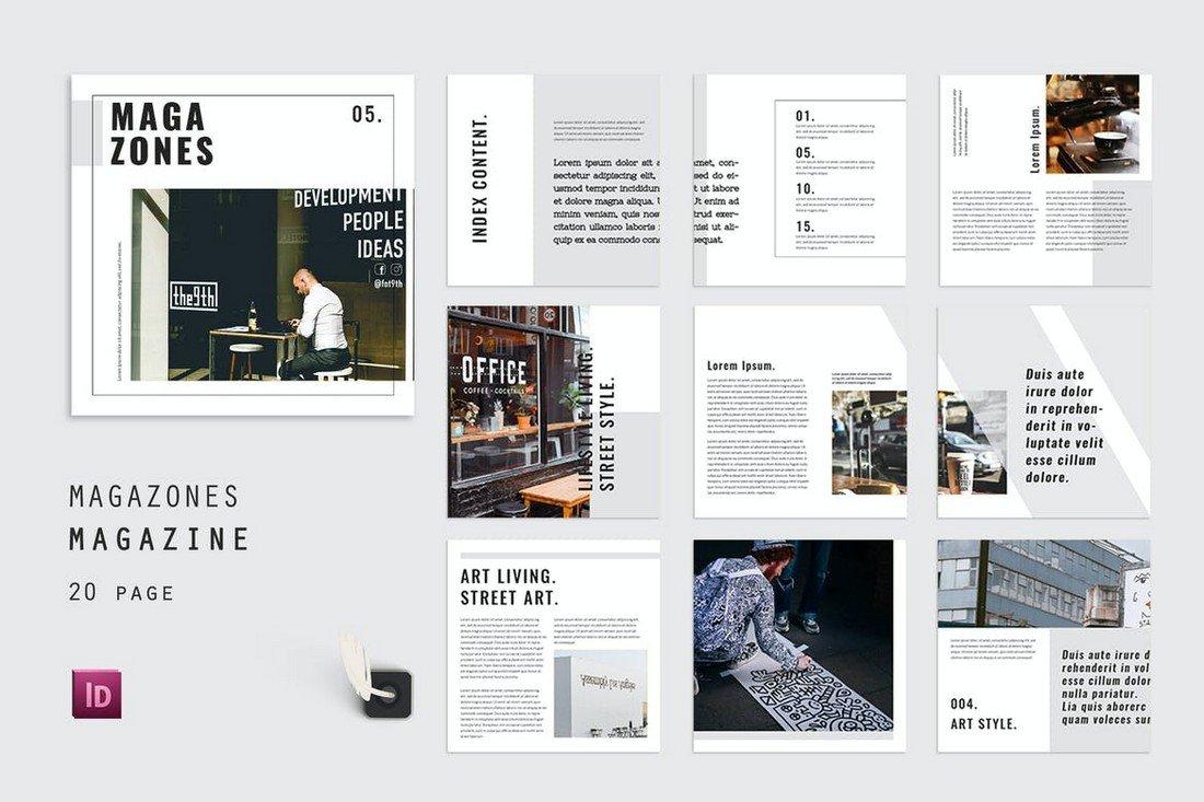 Index Magazones InDesign Magazine Template