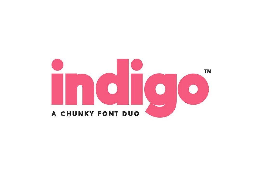 Indigo - Clean Font Duo