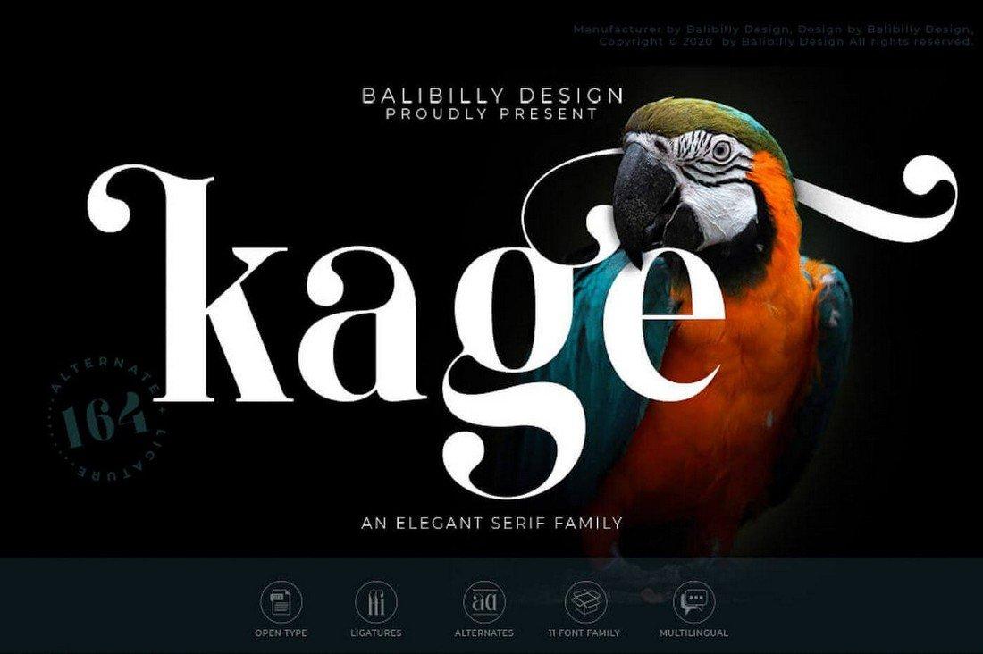Kage Black - Free Elegant Serif Font
