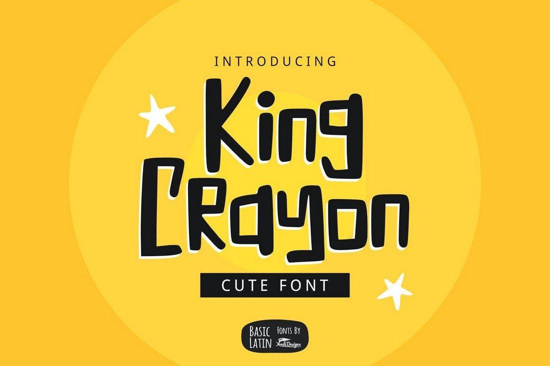 King Crayon - Fun YouTube Font