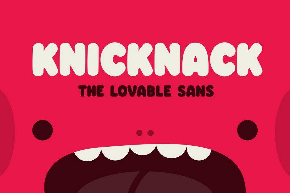 Knicknack - Fun YouTube Font