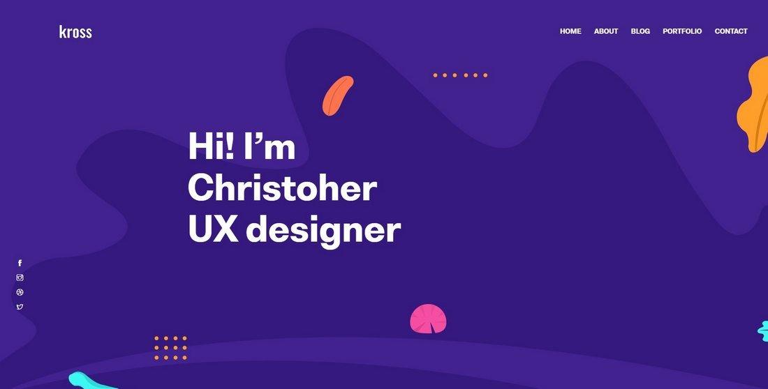 Kross - Free Creative Portfolio HTML Template
