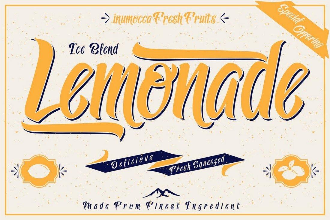 Lemonade - Creative Script Tattoo Font