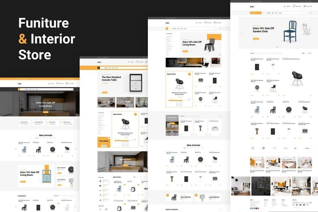 Lisk - eCommerce Website Sketch Template