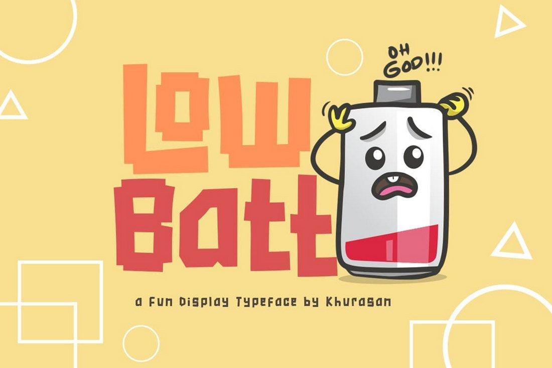 Low Batt - Retro Creative Font