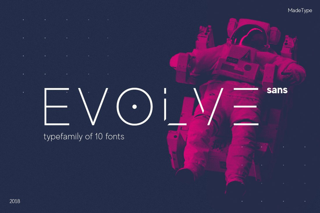 MADE Evolve Sans - Free Space Font