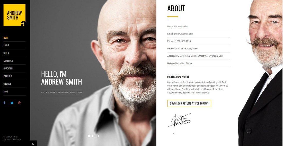 MEE - Resume & Portfolio HTML Template