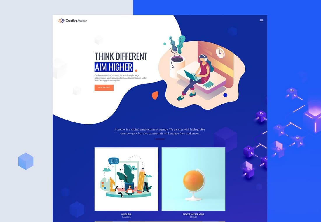 MI Creative Agency - Free Sketch Website Template
