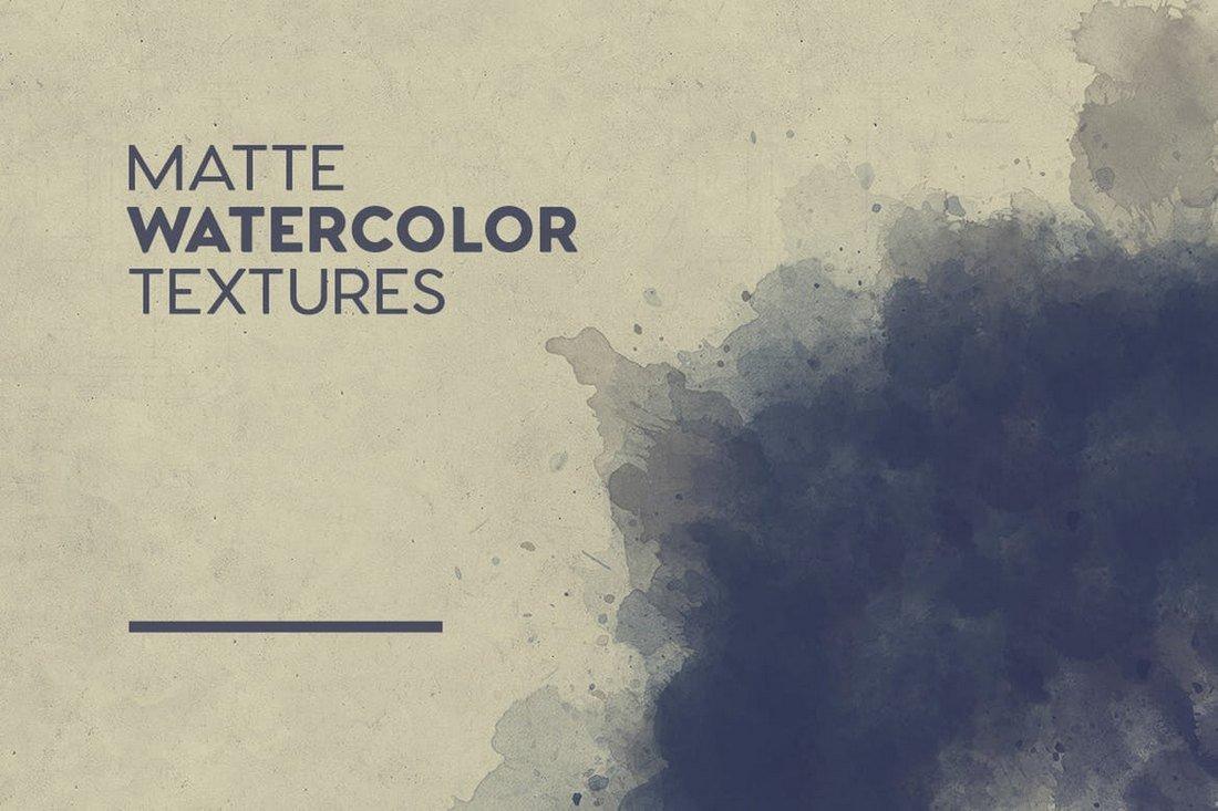 Matte Watercolor Textures