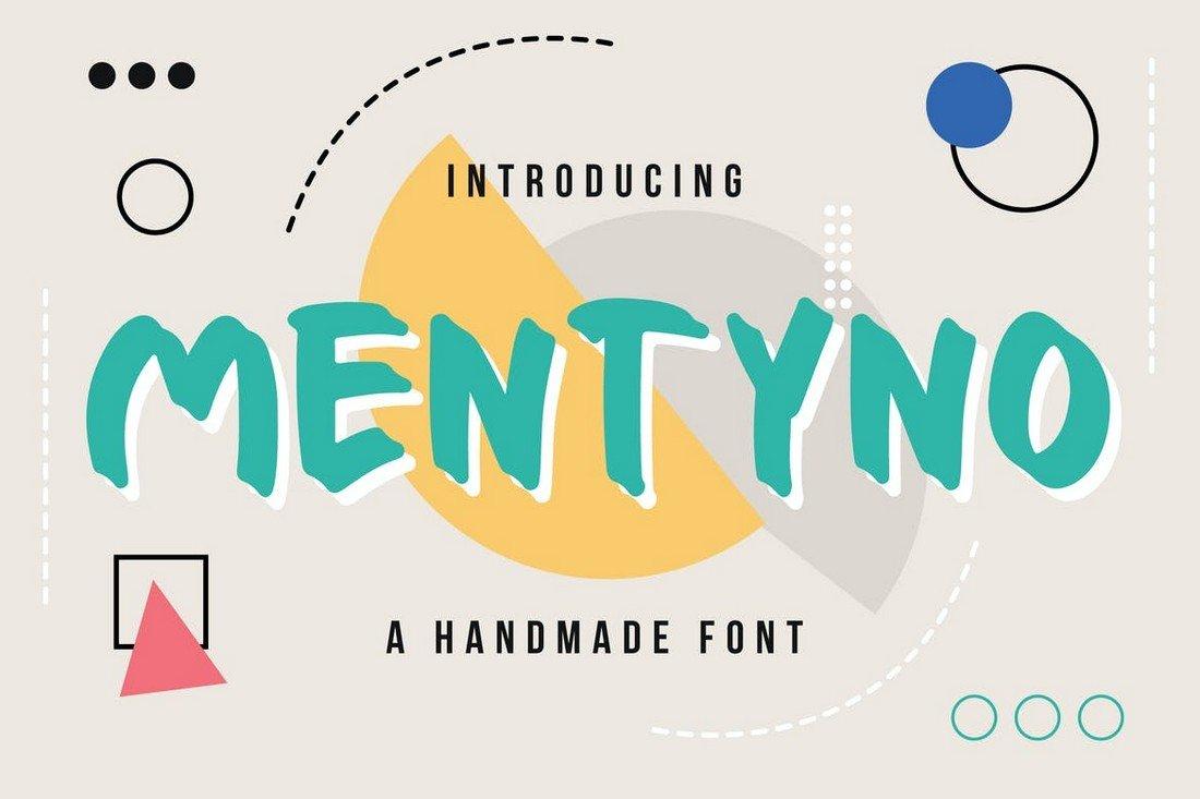 Mentyno - Handmade YouTube Font