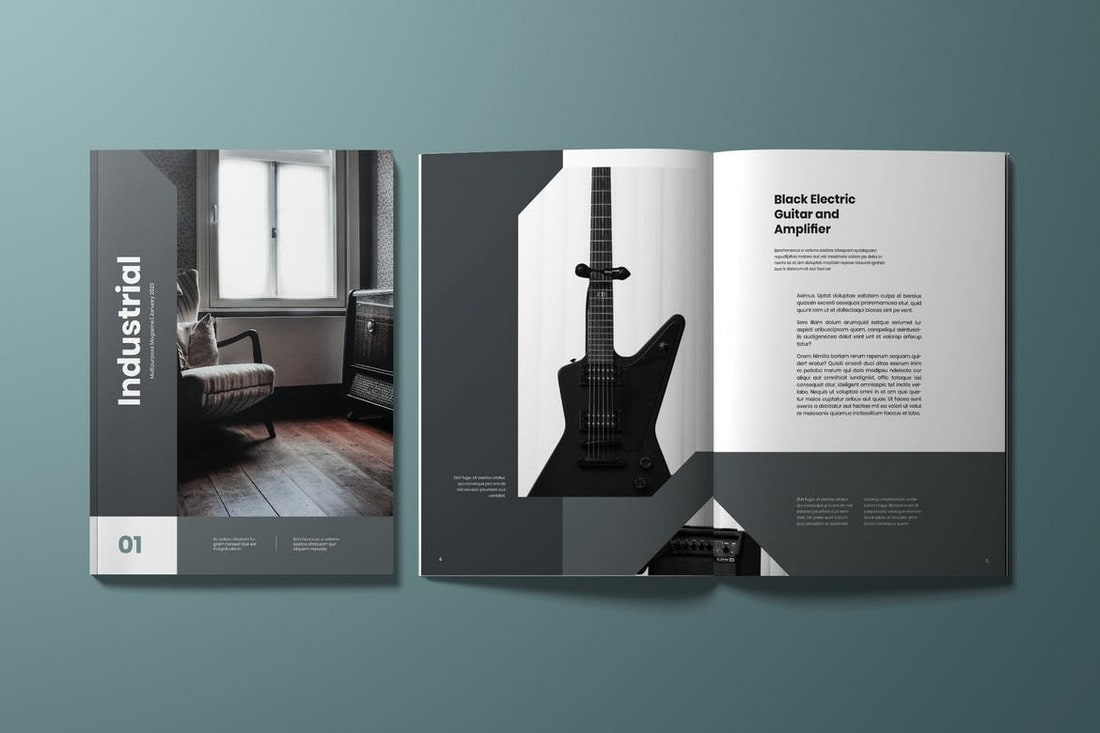 Minimal InDesign Magazine Template