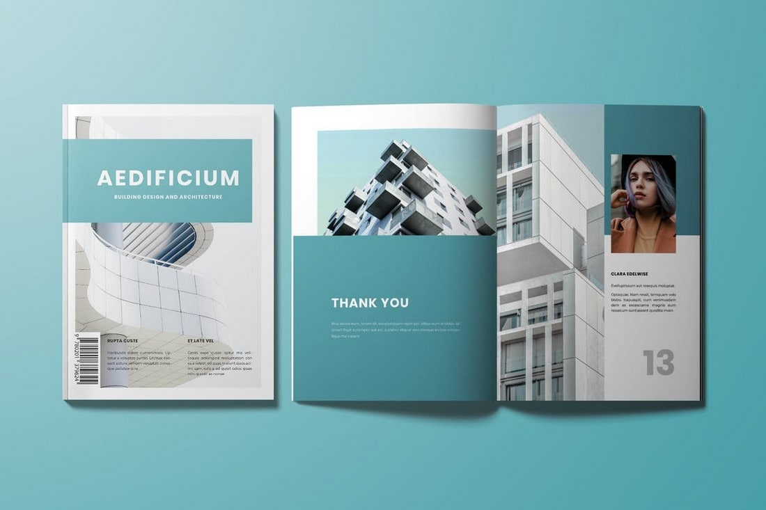 Modern Business InDesign Magazine Template