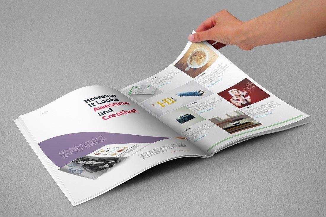 Modern Free InDesign Magazine Template