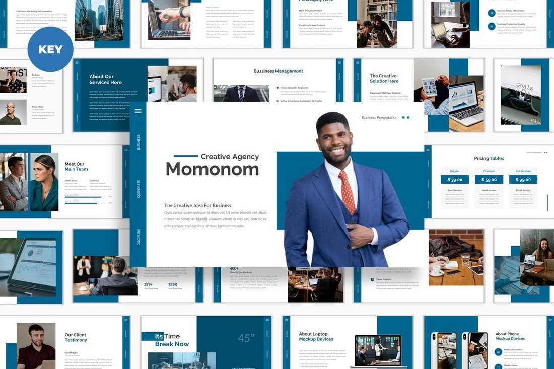 Momonom - Business Keynote Template