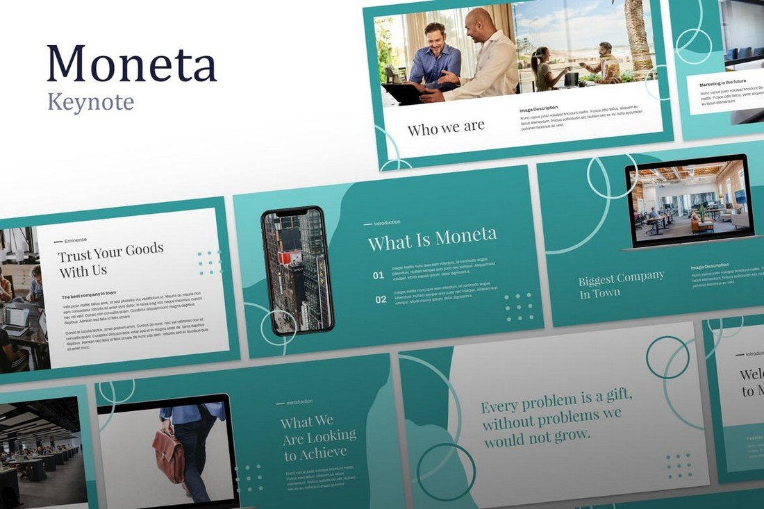Moneta - Finance Keynote Template