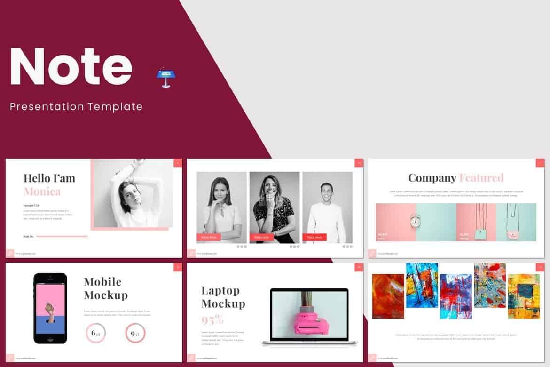 Note - Minimal Keynote Template
