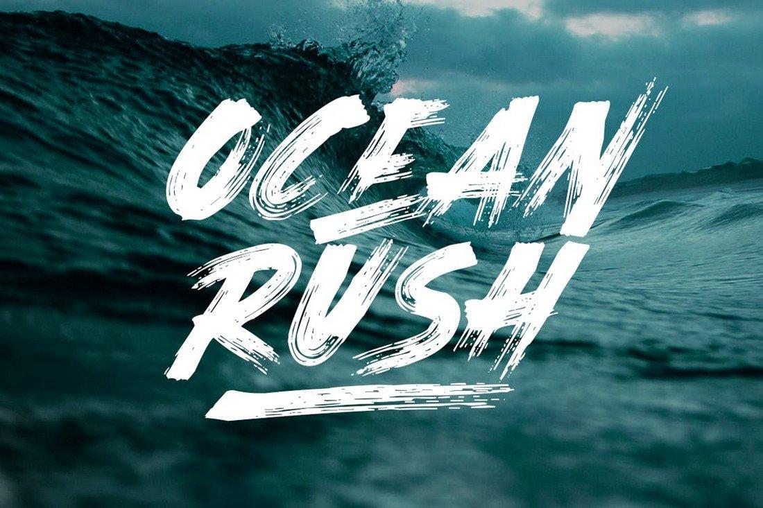 Ocean Rush - Adventure YouTube Font