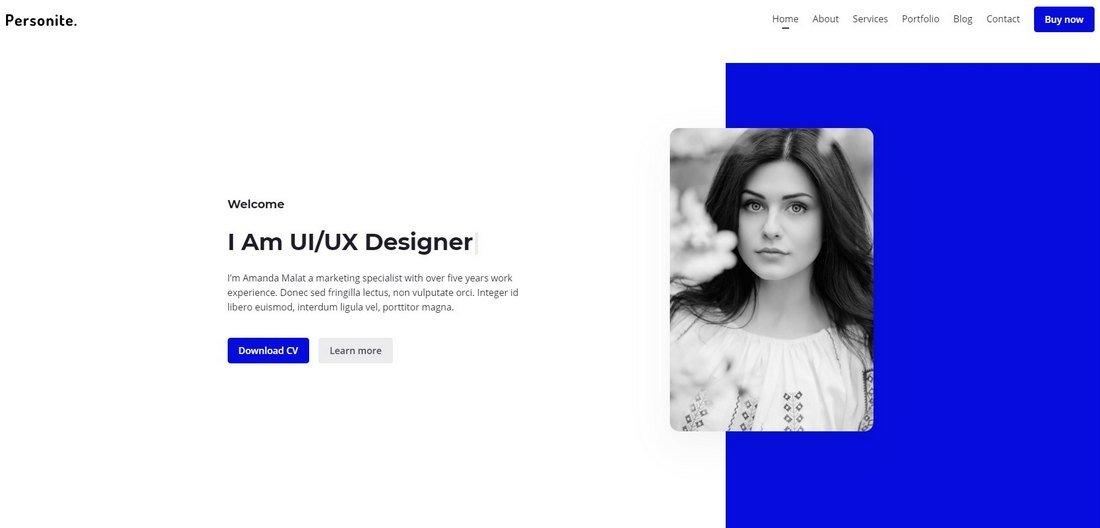Personite - Bootstrap Portfolio HTML Template