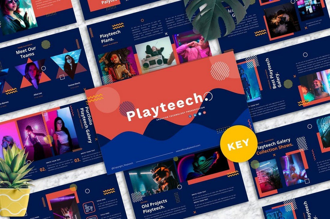 Playteech - Creative & Colorful Keynote Template