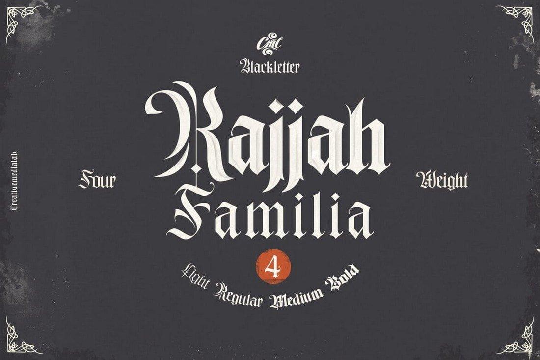 Rajjah Familia - Blackletter Font Family