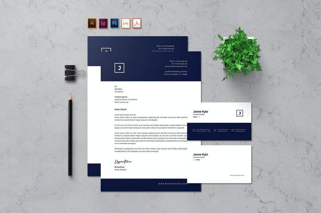 Rantautemp - Letterhead & Business Card Template