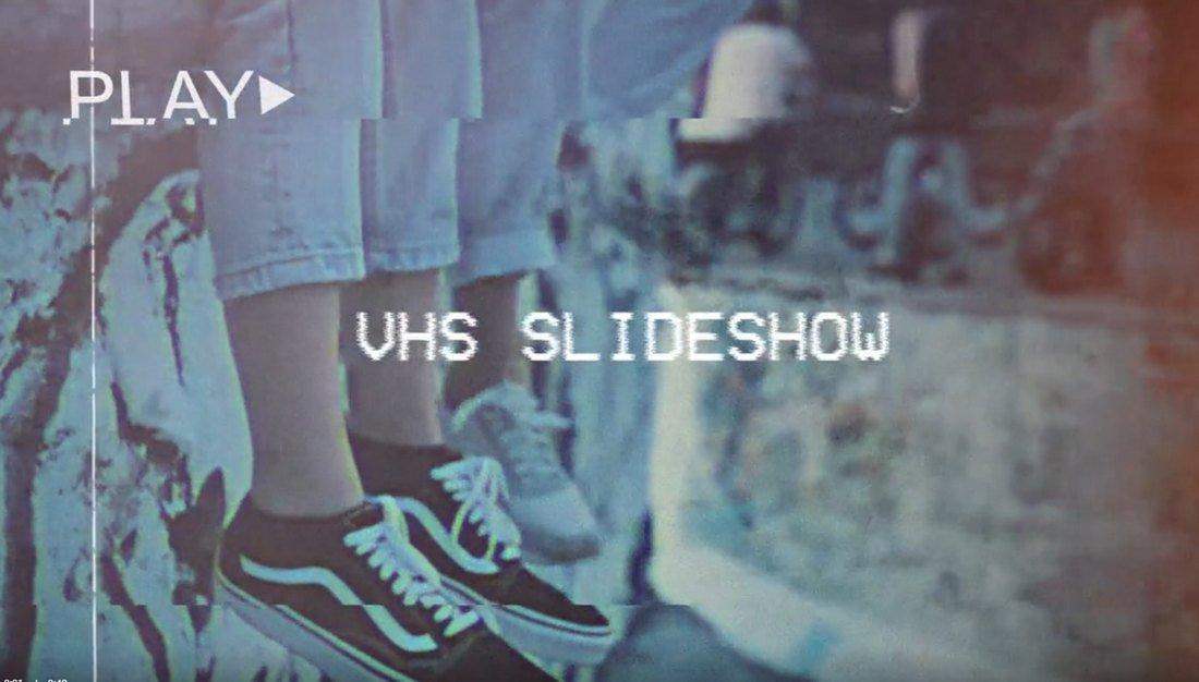 Retro VHS Slideshow Free Premiere Pro Template