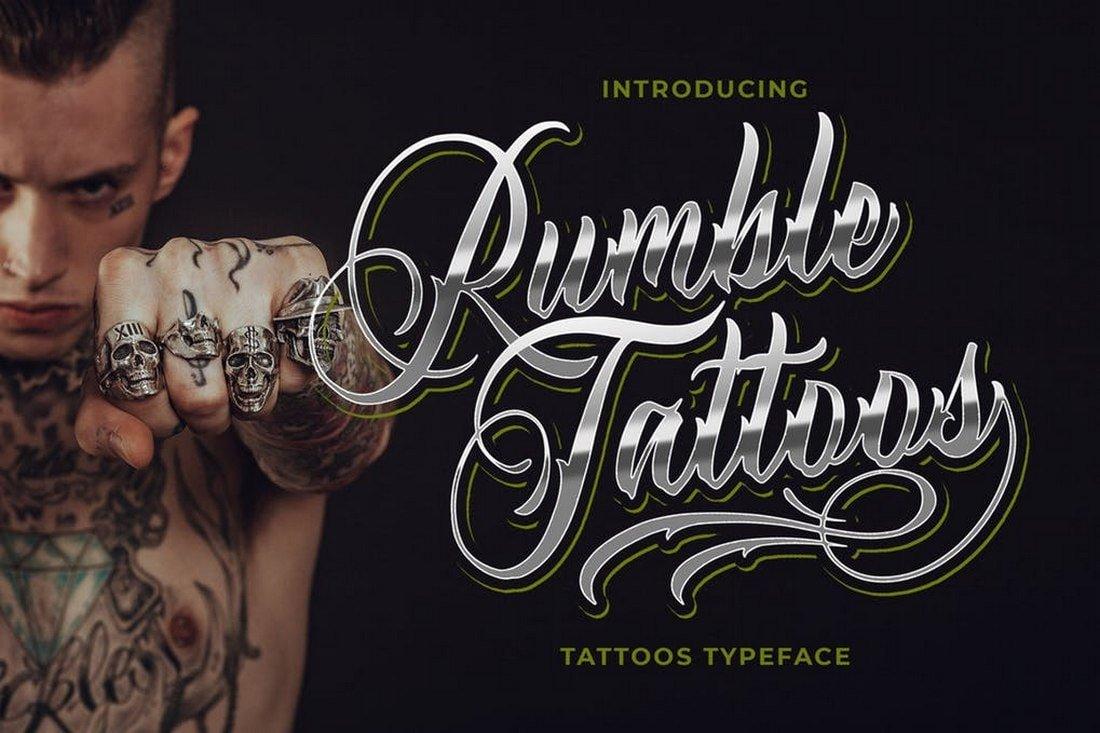 Rumble Tattoos - Tattoos Typeface