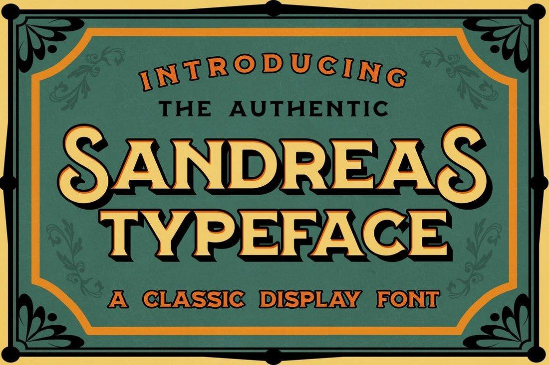 Sandreas - Retro Tattoo Font