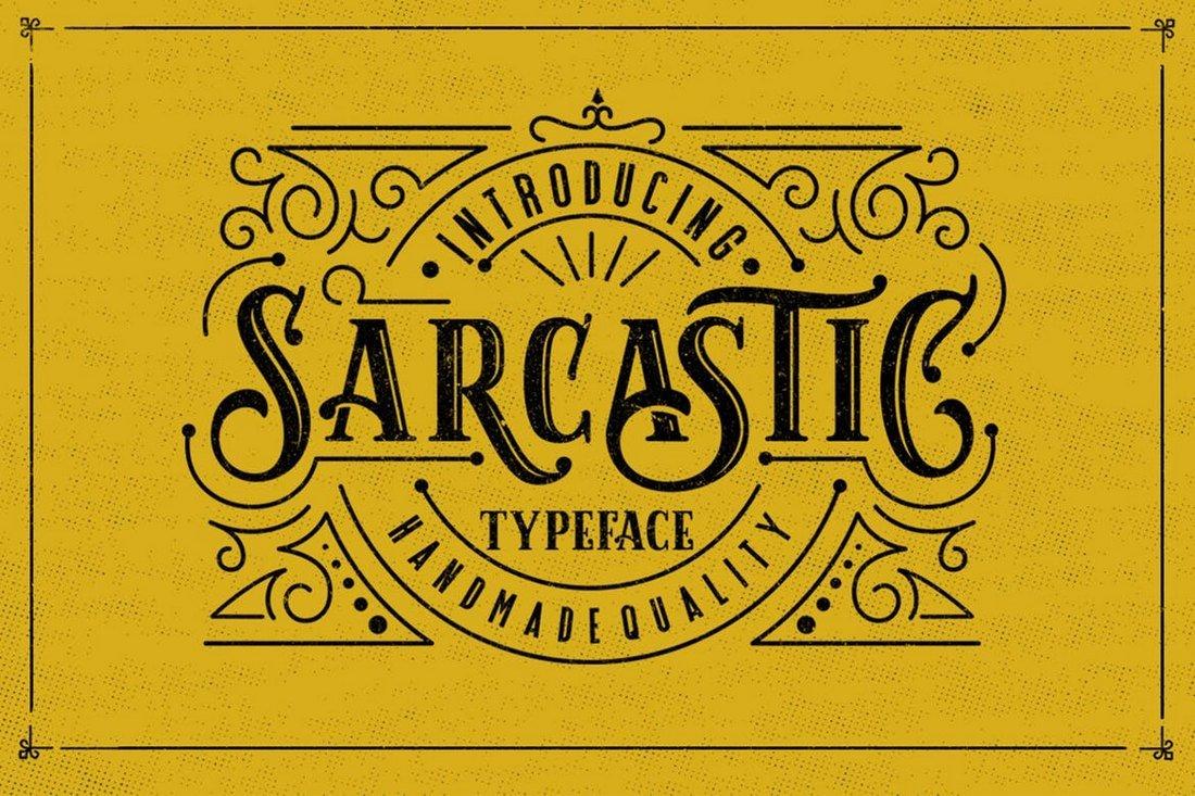 Sarcastic - Tattoo Font