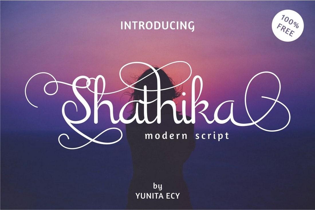 Shanthika - Free Tattoo-Style Script Font