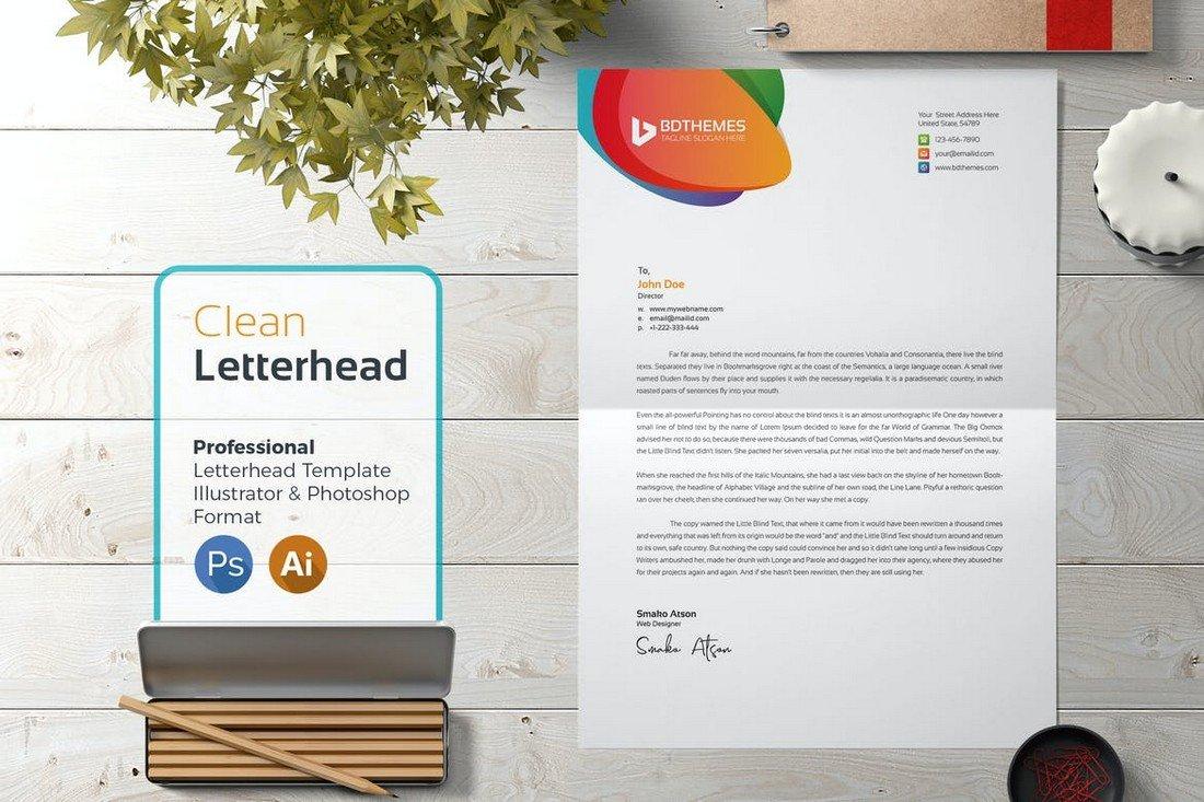 Simple Letterhead Design Template