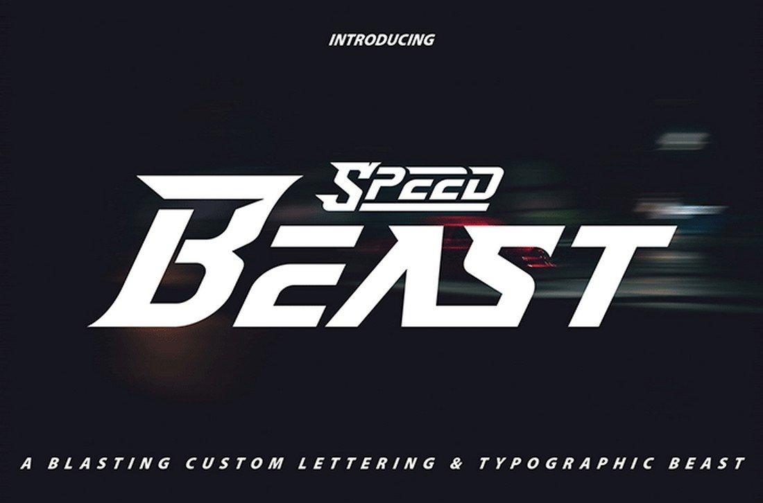 Speed Beast - Free YouTube Font