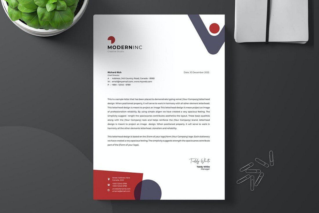 Startup Letterhead Design Template