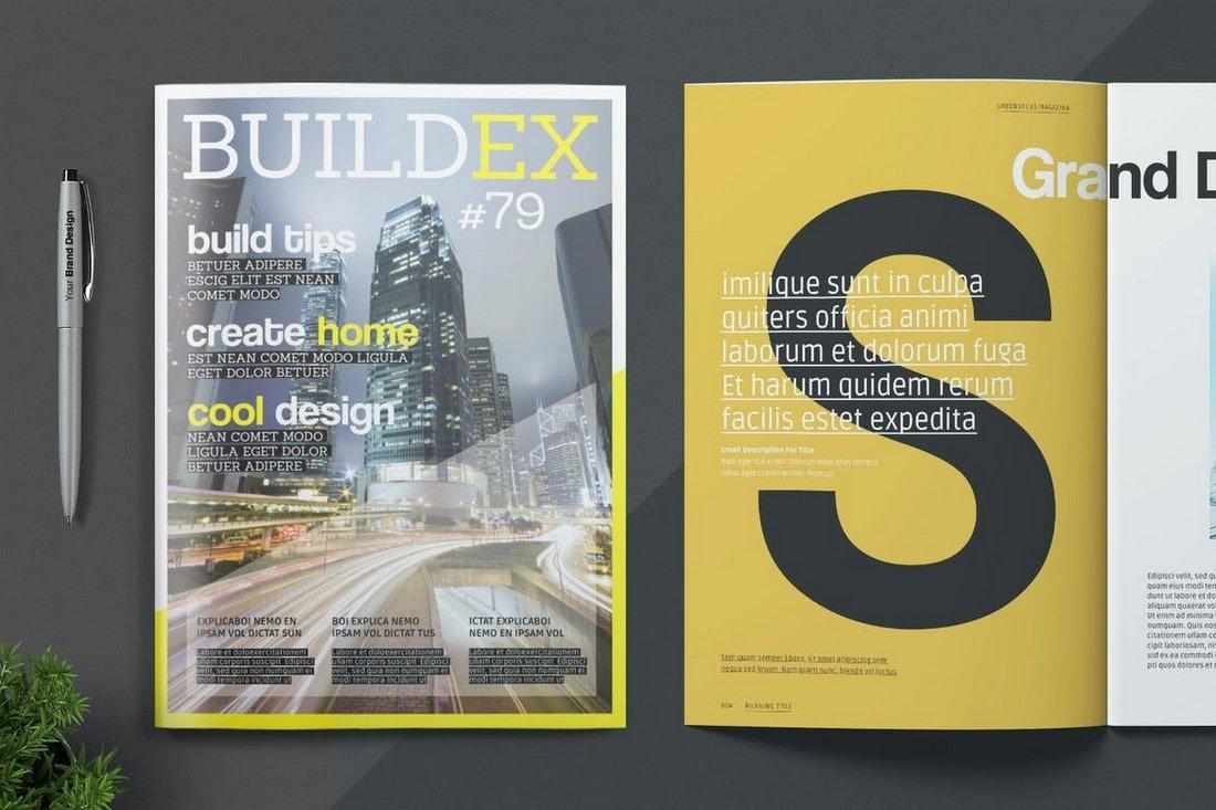 Stylish InDesign Magazine Template
