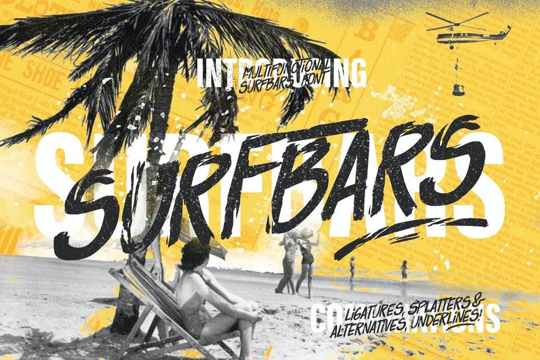Surfbars - Modern Brush Font
