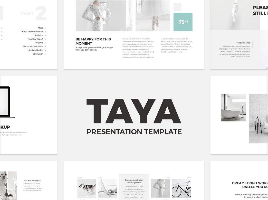 Taya - Free Elegant Keynote Presentation