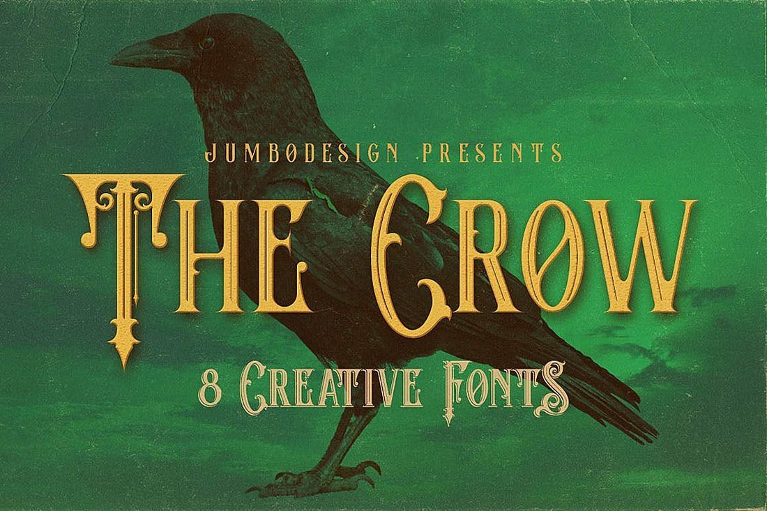 The Crow - Vintage Style Tattoo Font