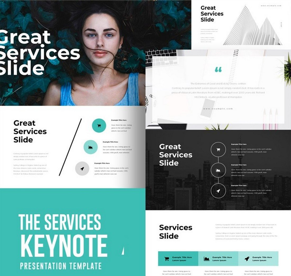 The Services - Free Keynote Template