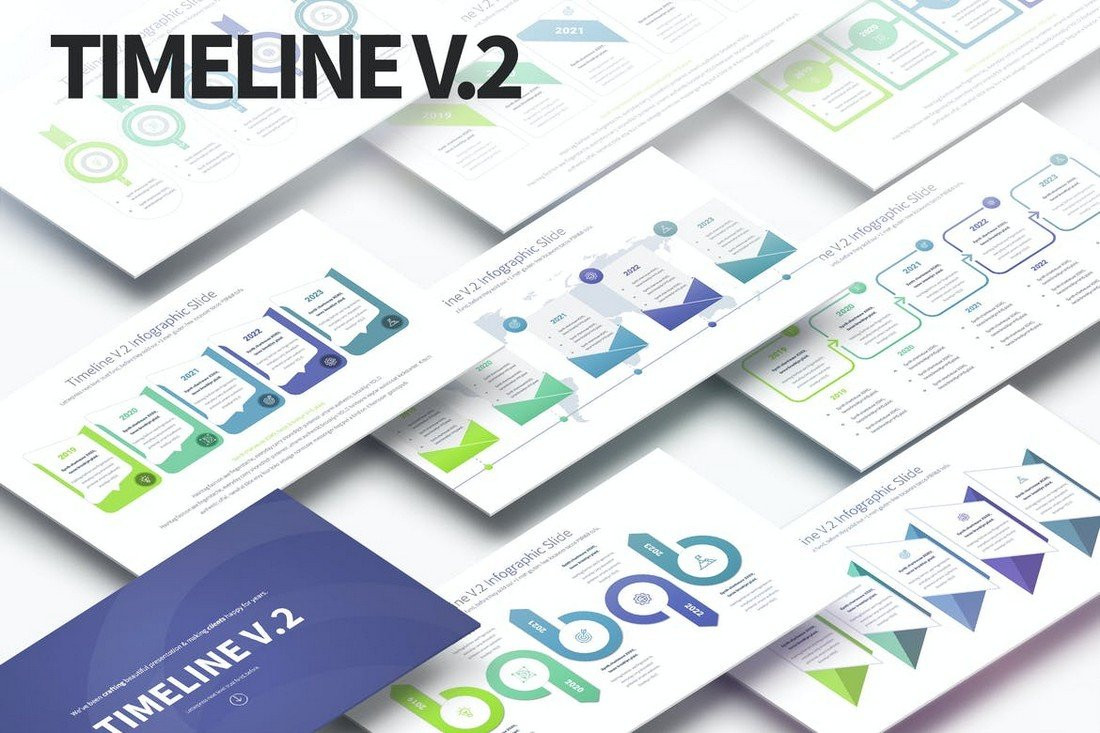 Timelines - PowerPoint Infographics Slides