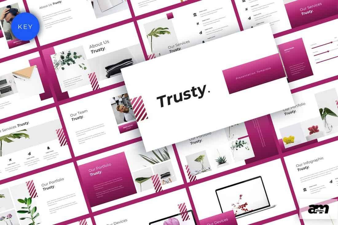 Trusty - Minimal Business Keynote Template