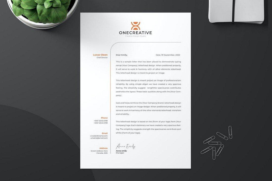 Unique Letterhead Design Template