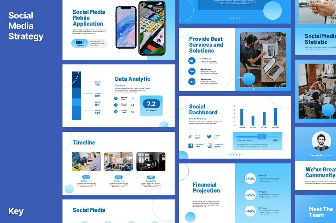 Vendo - Social Media Keynote Template