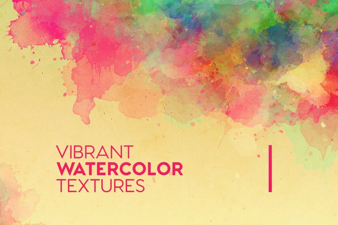Vibrant Watercolor Background Textures