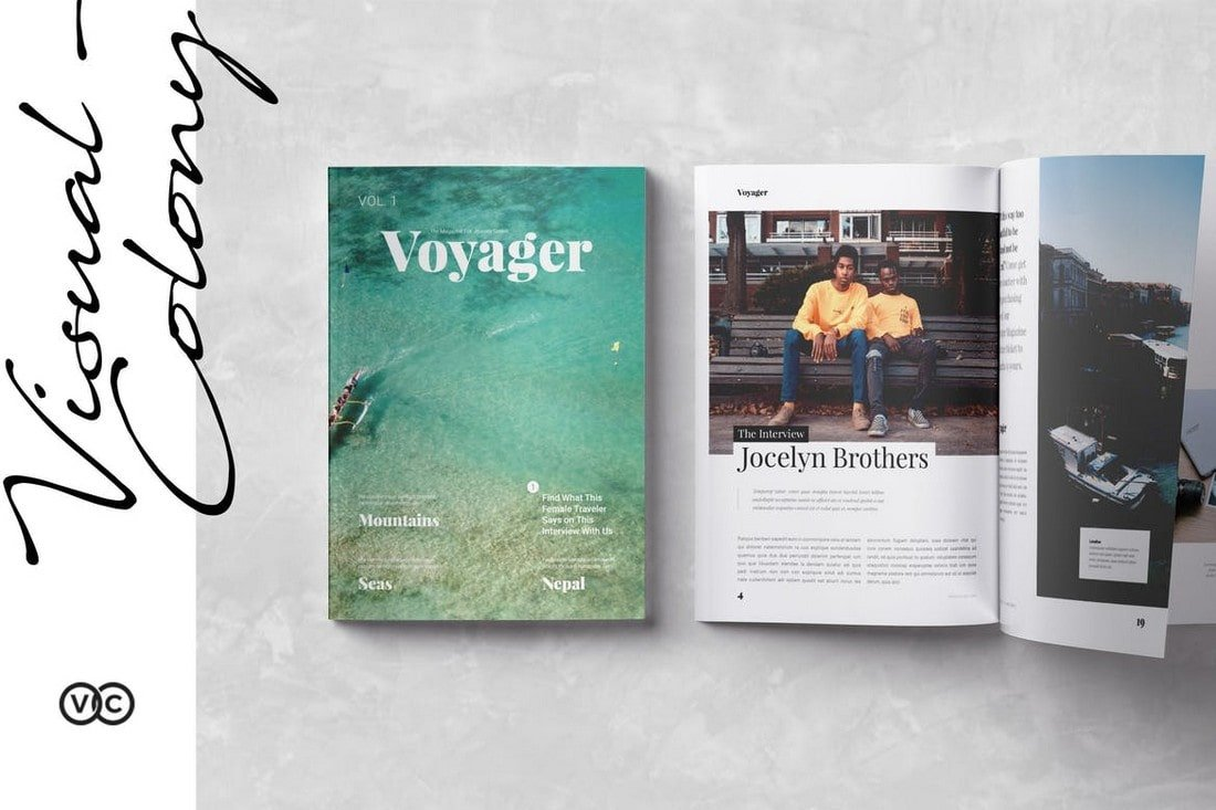 Voyager Travel Magazine InDesign Template