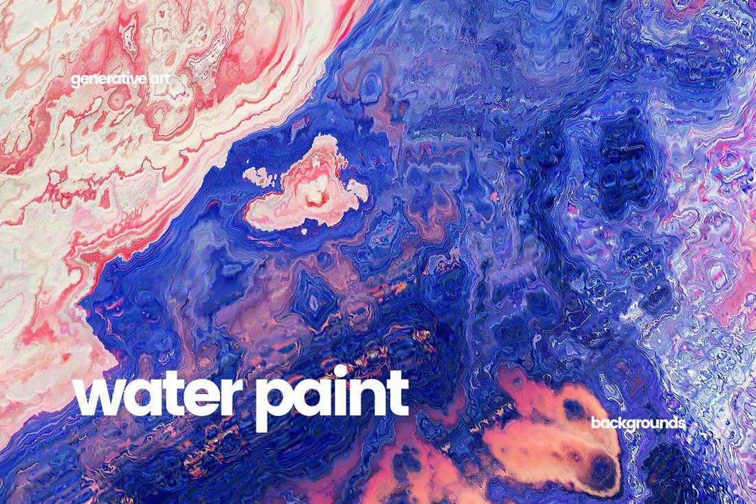 Water Paint & Watercolor Backgrounds