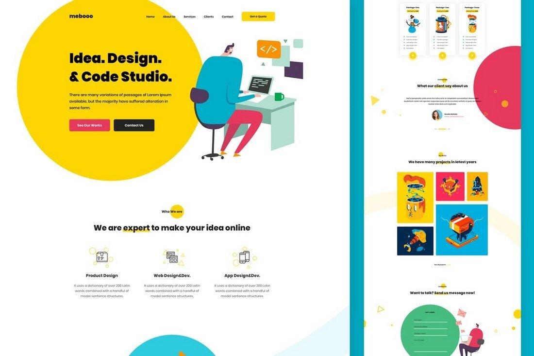 Web Studio Sketch Website Template