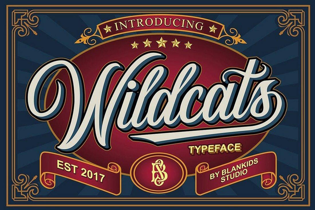 Wildcats - Vintage Tattoo Font