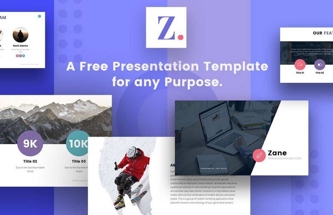 Zane - Free Modern Google Slides Theme