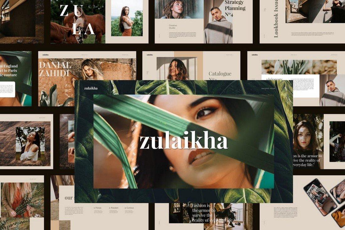 Zulaikha -Modern Fashion Google Slides Template