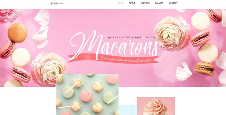 Bake-a-cake - Cakery Elementor WordPress Theme.